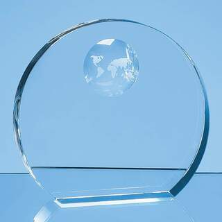 17cm Optical Crystal Circle with Recessed Globe