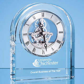 14.5cm Optical Crystal Arched Clock