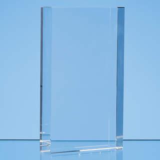 17cm x 10cm Optical Crystal Rectangle Award, H or V