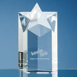 15cm Optical Crystal Star Column Award