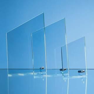 20.5cm x 12.5cm x 1cm Jade Glass Peak with Chrome Pin  H or V