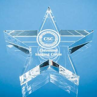 10.5cm Optical Crystal Star Paperweight