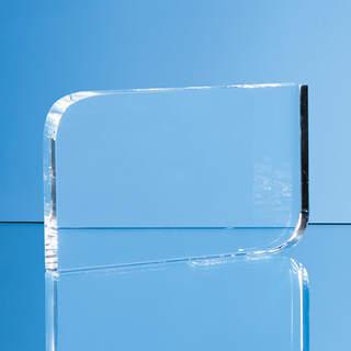 8.5cm x 12cm Optical Crystal Curved Rectangle Award